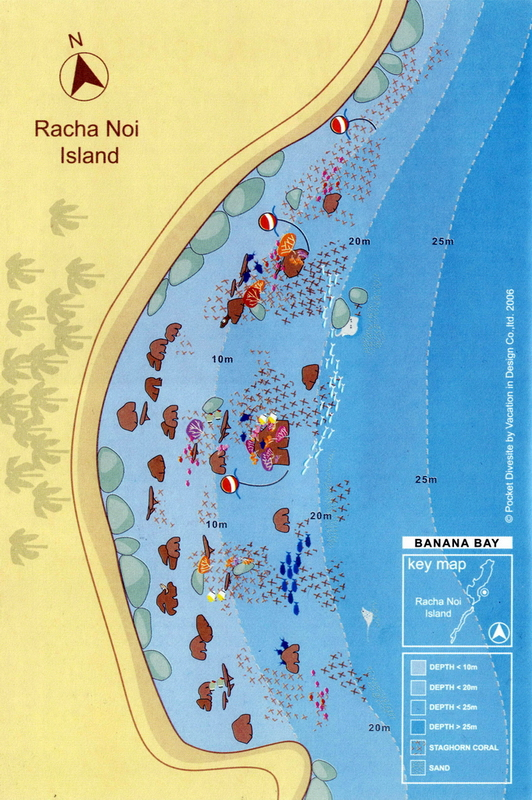 Site Map of Banana Bay - Racha Noi Dive Site, Thailand