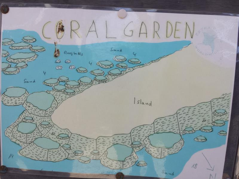 Site Map of Coral Garden Dive Site, Oman