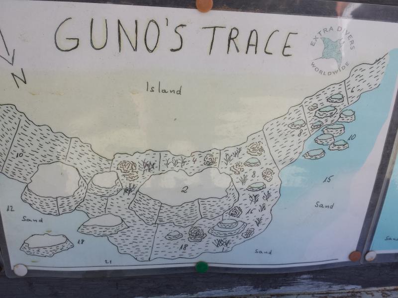 Site Map of Guno's Trace Dive Site, Oman
