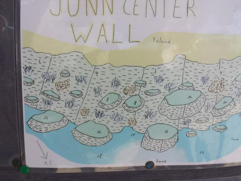 Site Map of Junn Center Wall Dive Site, Oman
