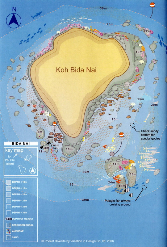 Site Map of Kata Beach - Phuket Dive Site, Thailand