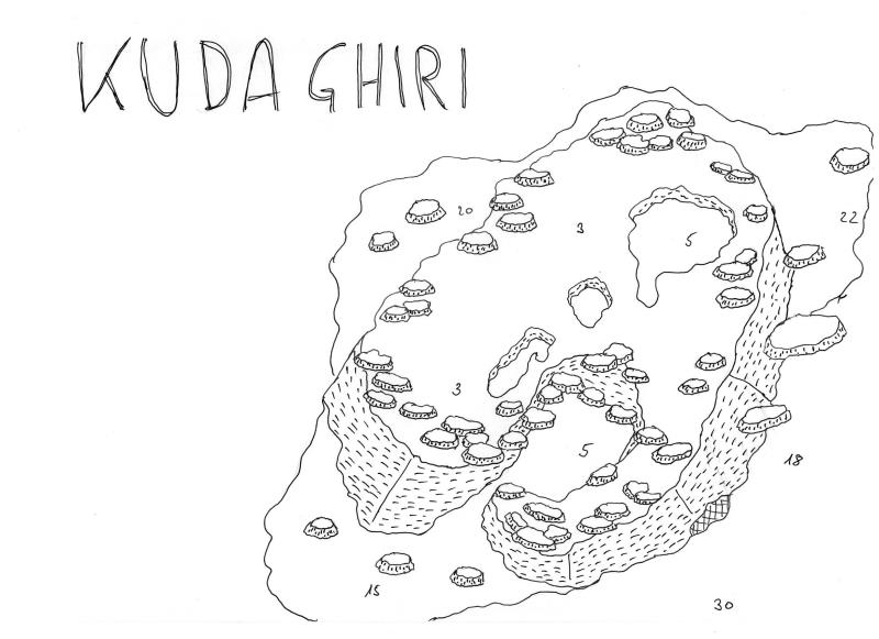 Site Map of Kuda Giri (Ghiri) Wreck, South Male Atoll Dive Site, Maldives