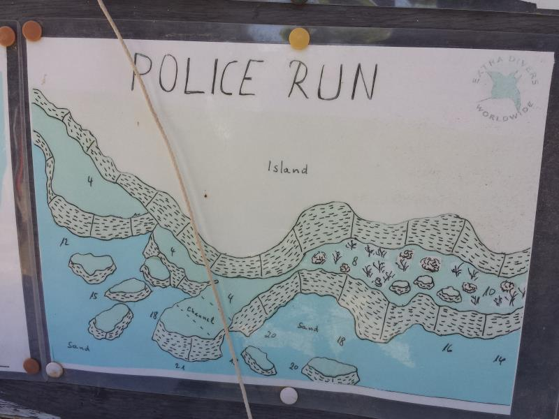 Site Map of Police Run Dive Site, Oman