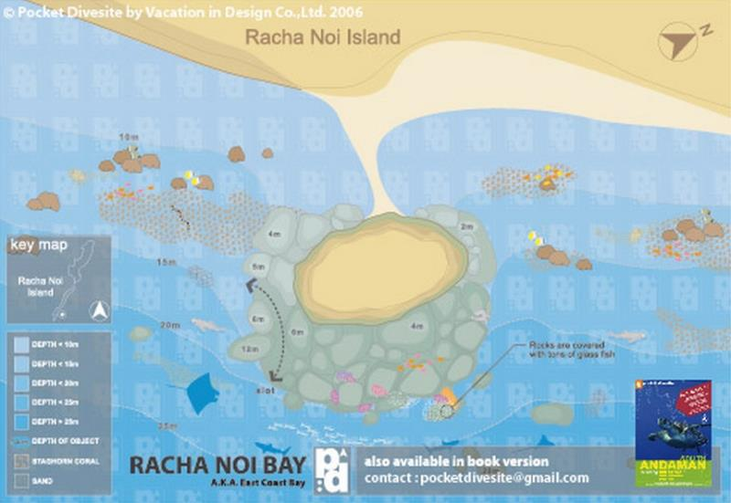 Site Map of Racha Noi Bay Dive Site, Thailand
