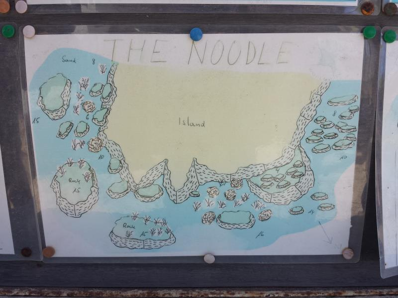 Site Map of The Noodle Dive Site, Oman