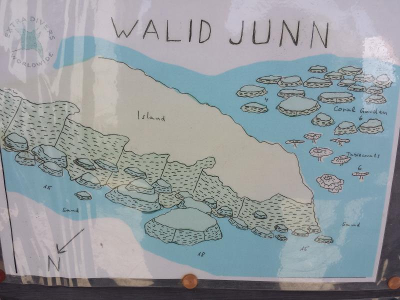 Site Map of Walid Junn Dive Site, Oman