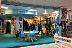 The Entrance to Easy Divers in Cyprus