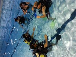 PADI Scuba diver course in progress