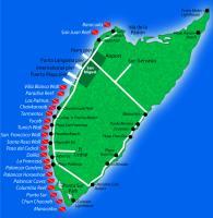 Cozumel Manta Raya Divers Dive Map