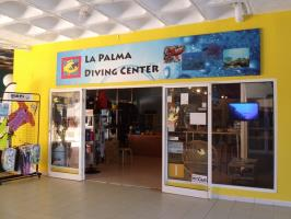 Dive Center and Shop - and a living room