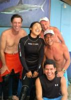happy crew at White Beach Divers