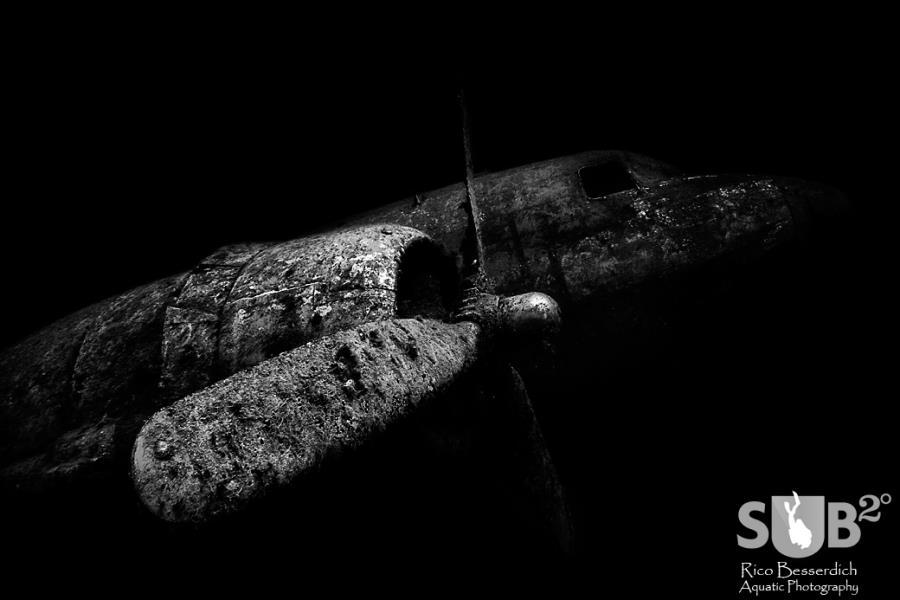 A legendary aircraft underwater