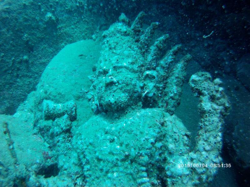 Ancient statue of Hindu God