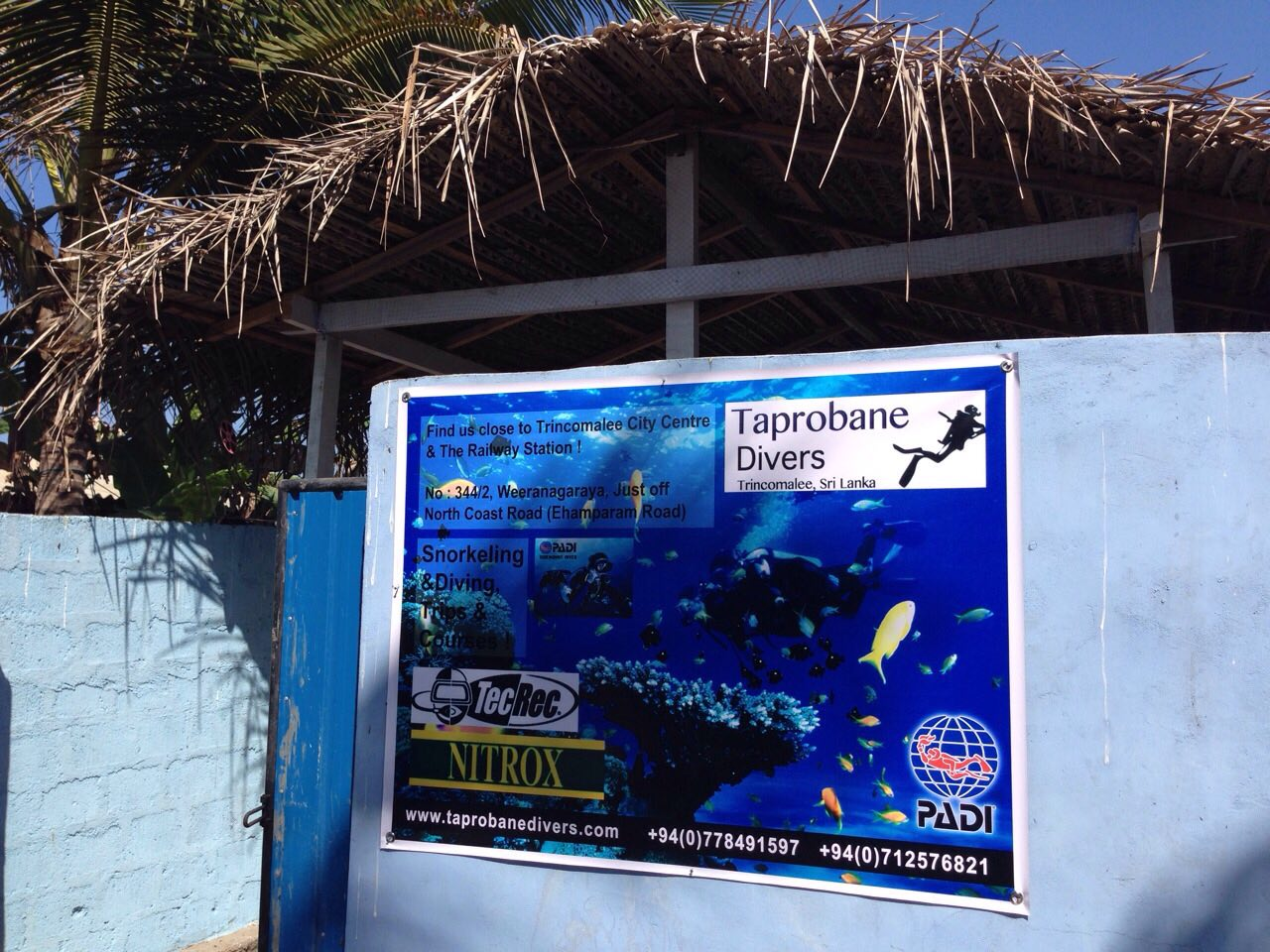 Back entrance to dive centre