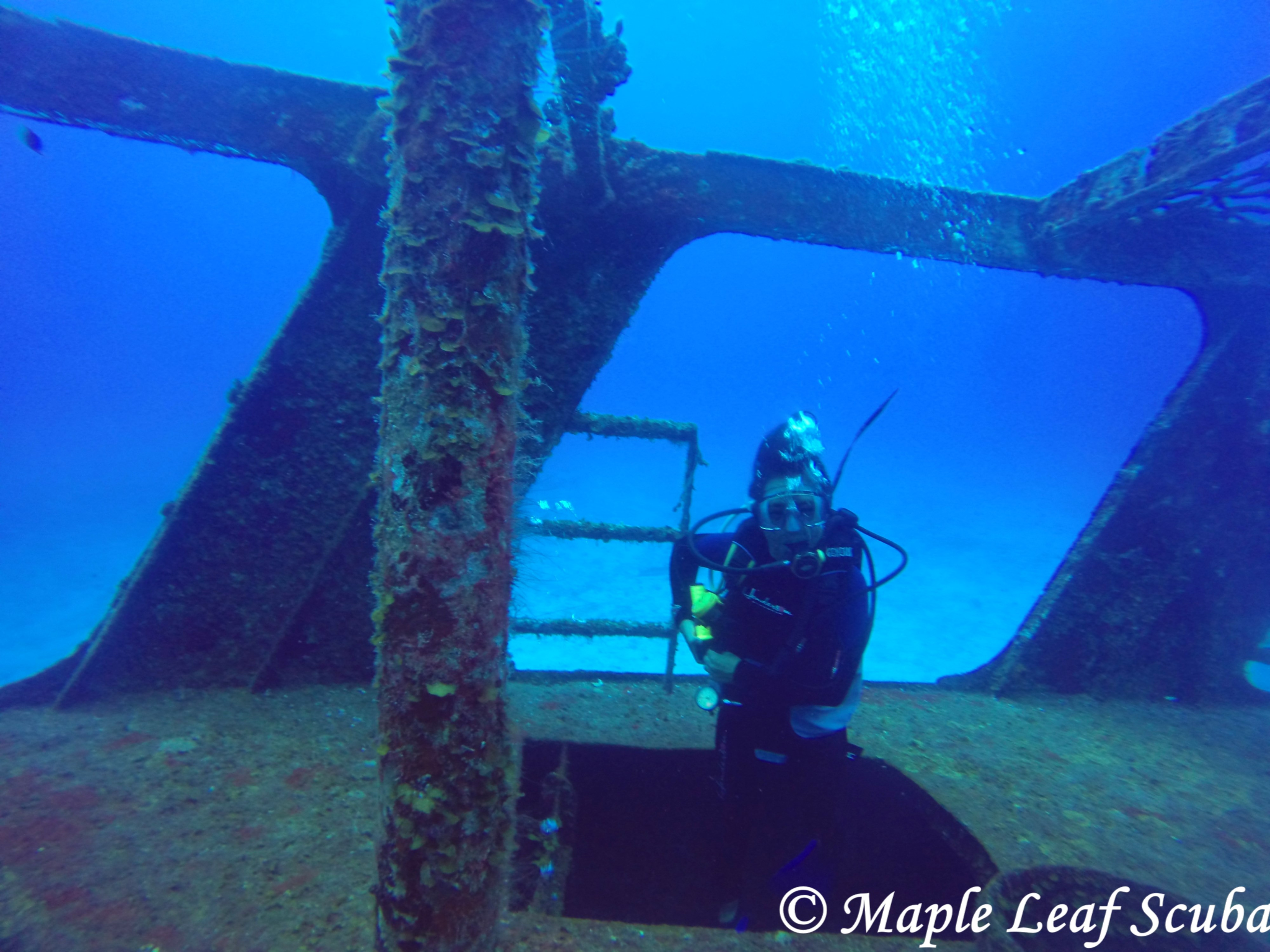 Diving the C-53 Ship Wreck in Cozumel, Mexico