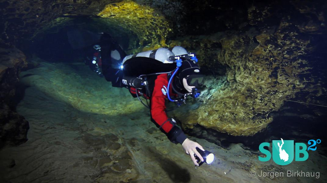 Cave Diver in Devil's Eye Cave