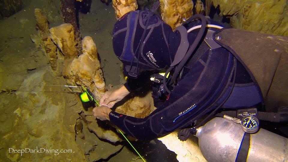 Cave diving in Yucatan