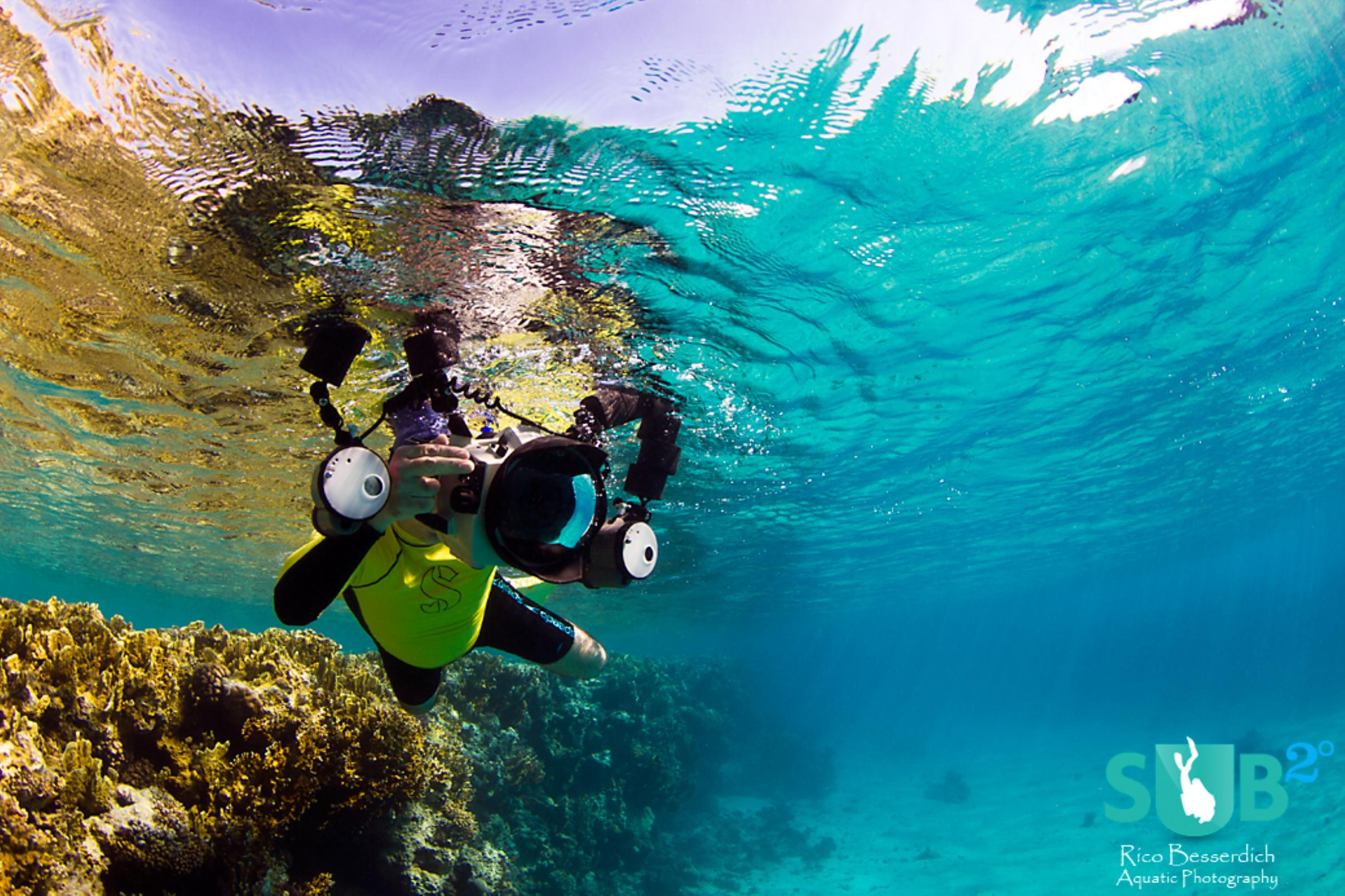Shooting underwater photos while snorkeling is fun, too. It all just depends on the angle.