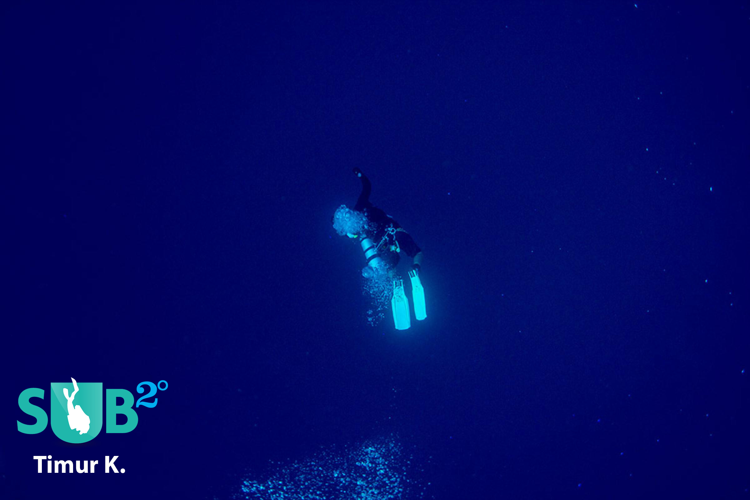 Diver in the Deep Blue Sea