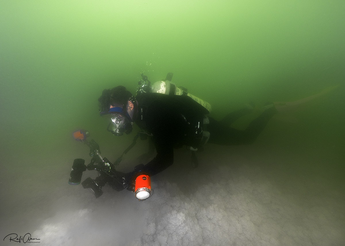 Diving at the Dead Sea is very complex, you need over 50 kg to sink ..