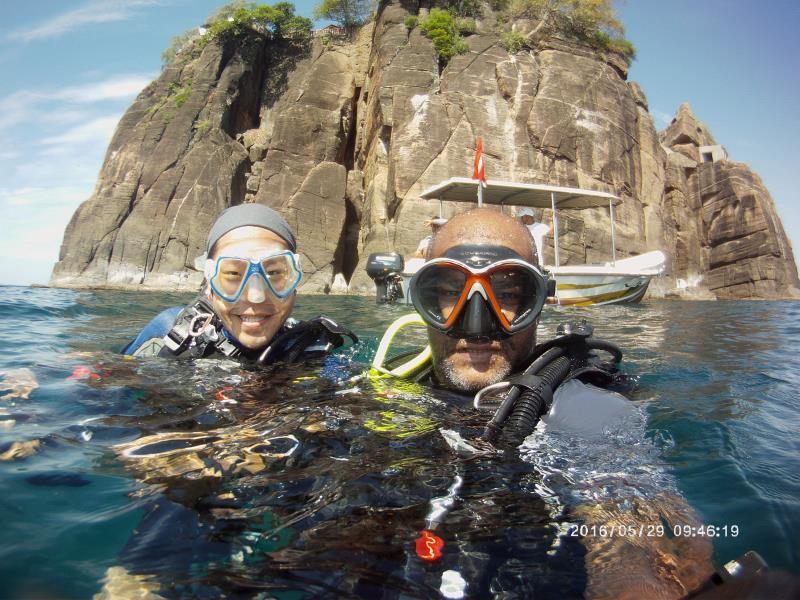 Diving at Swami Rock!
