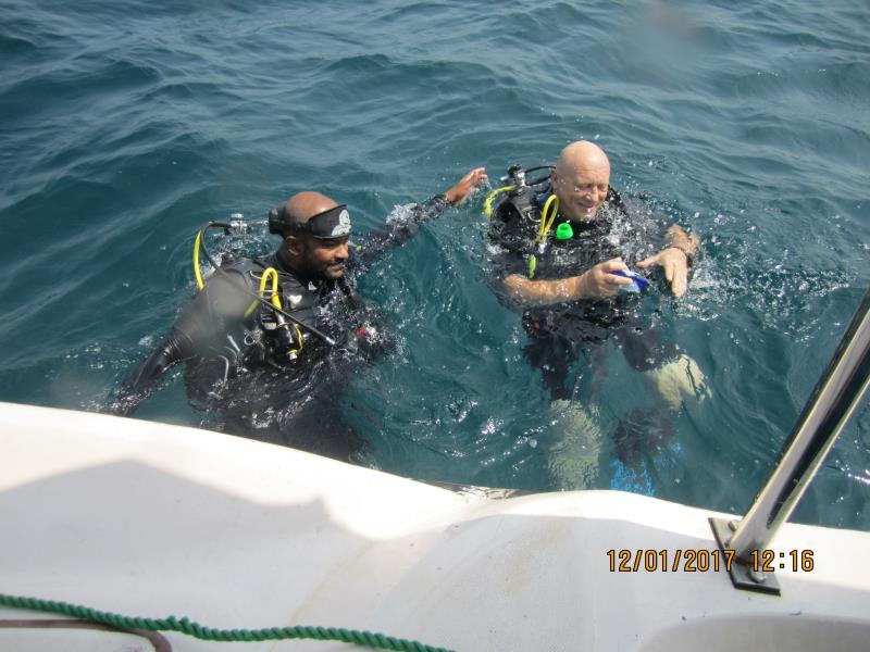 End of dive!