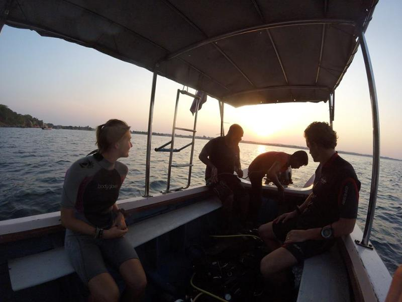 Getting ready for the night dive!