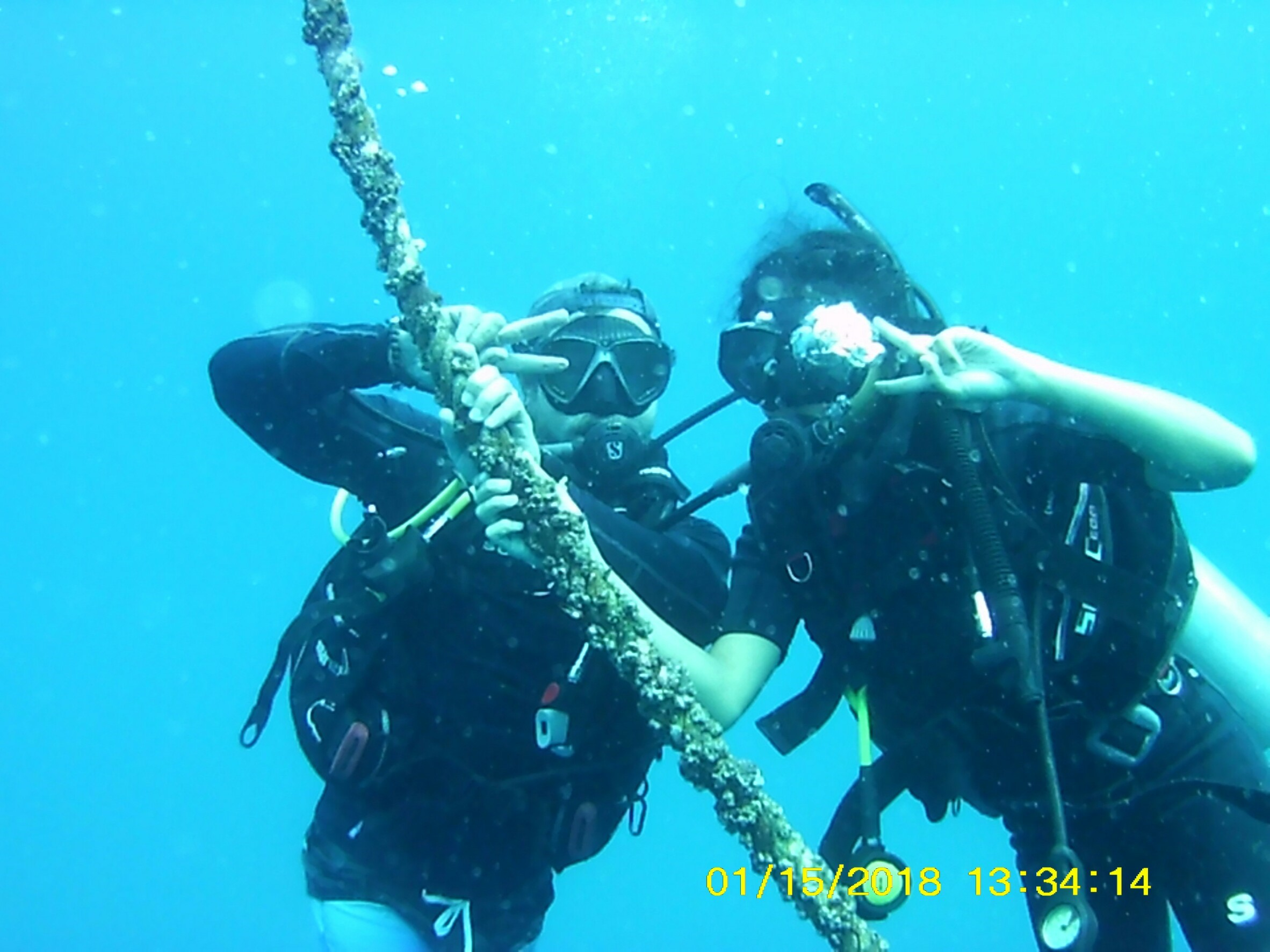 we have fun With diving. But we have wrong date in the Camera.