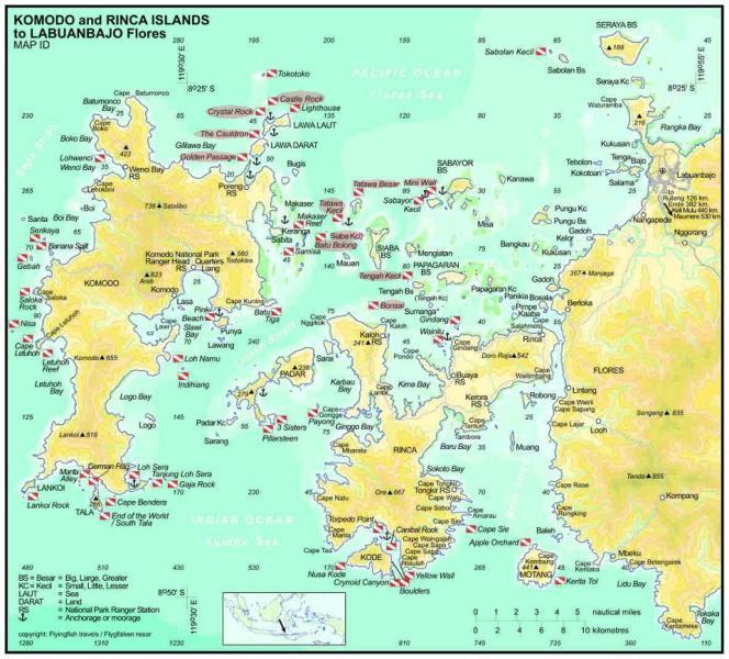 mapa komodo