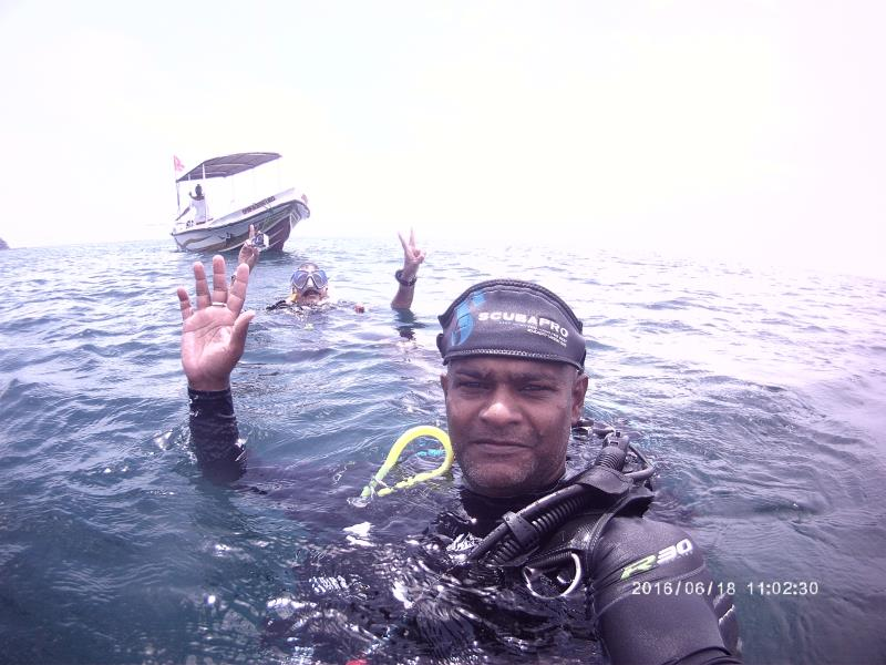 Our first dive of the day finished!