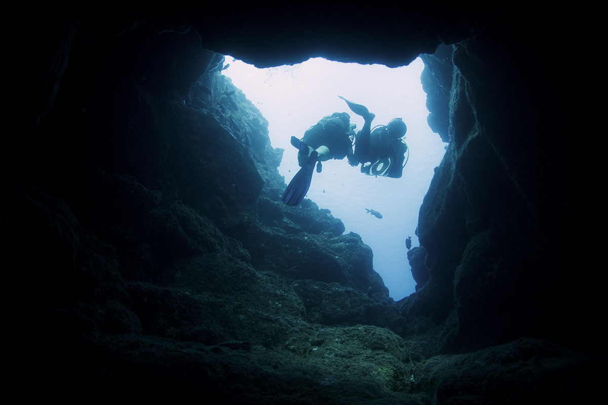 One of the formations in the Cathedral Dive Sites.