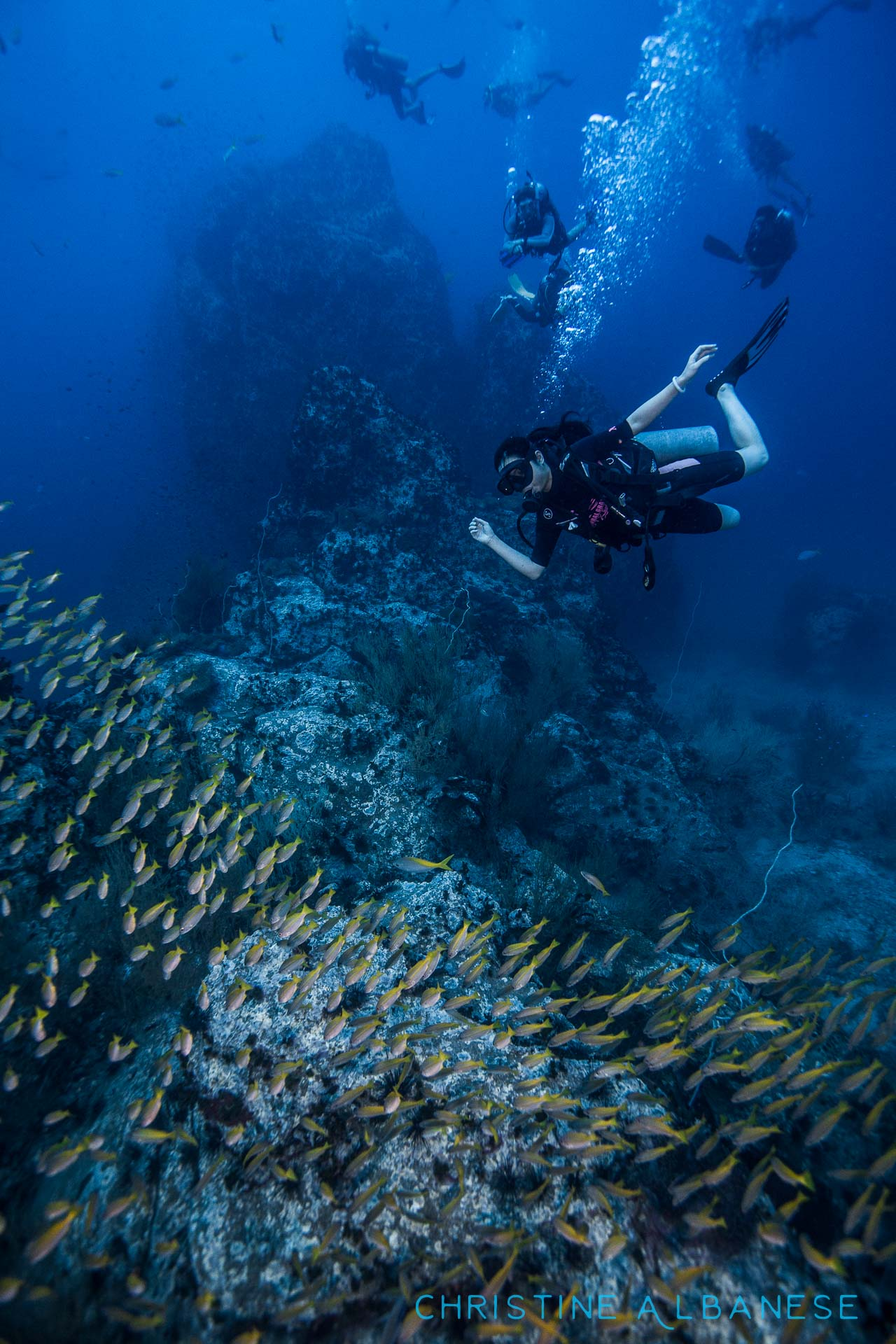 This girl absolutely loved posing for the camera! Fun with fun divers at chumphon Pinnacle...