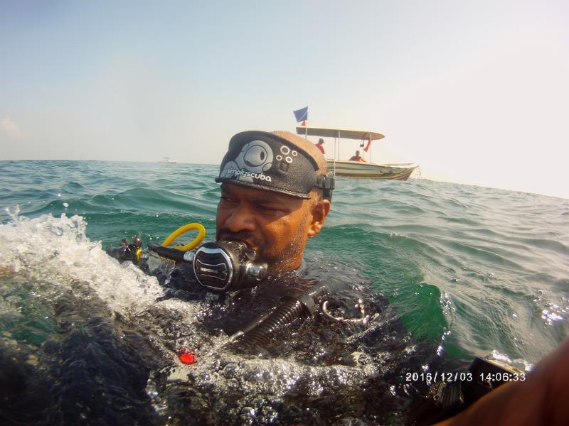 Selfie at end of dive!