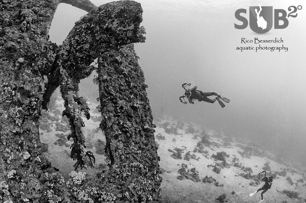 Shipwrecks are a timeless classic of black and white underwater photography - It always works!