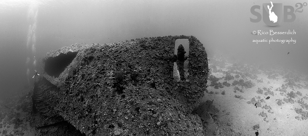 This shipwreck is more than 80 meters long. This panorama consists of 4 images.