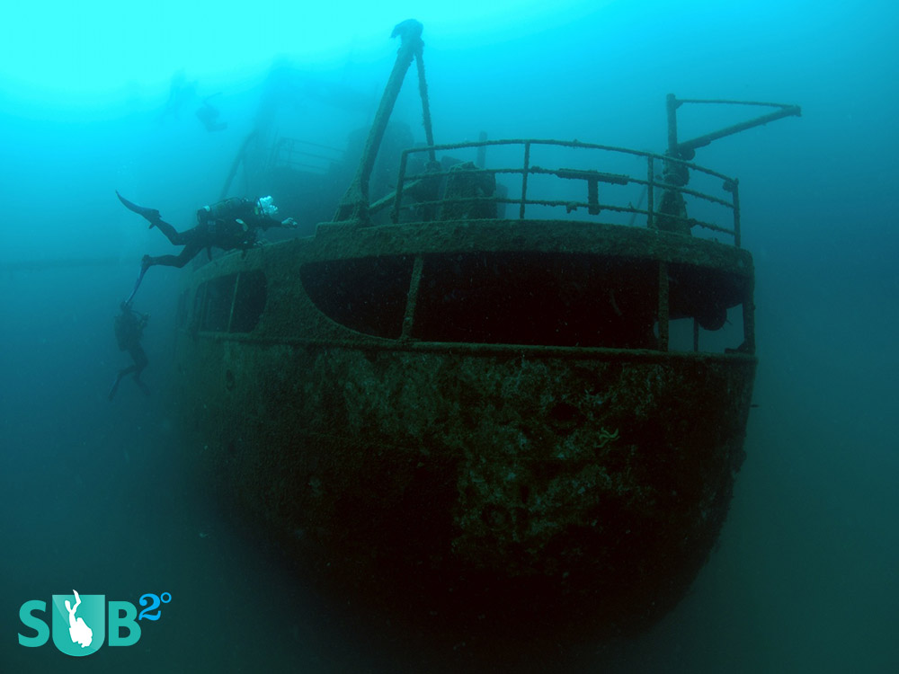 "Locally known as the ""GRK"", which sank in 1968."