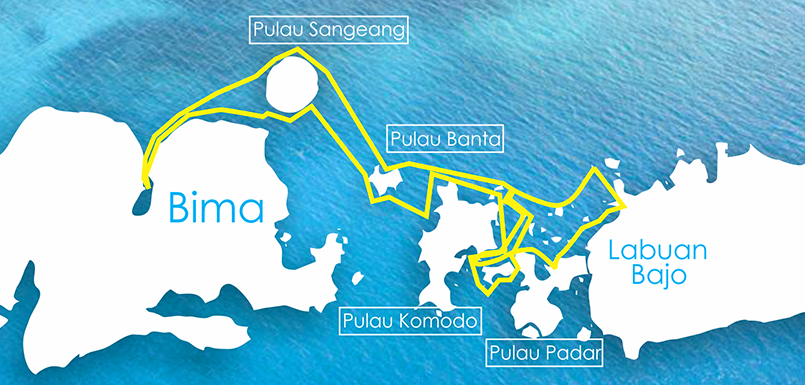 Route summary for the ultimate in Komodo experiences