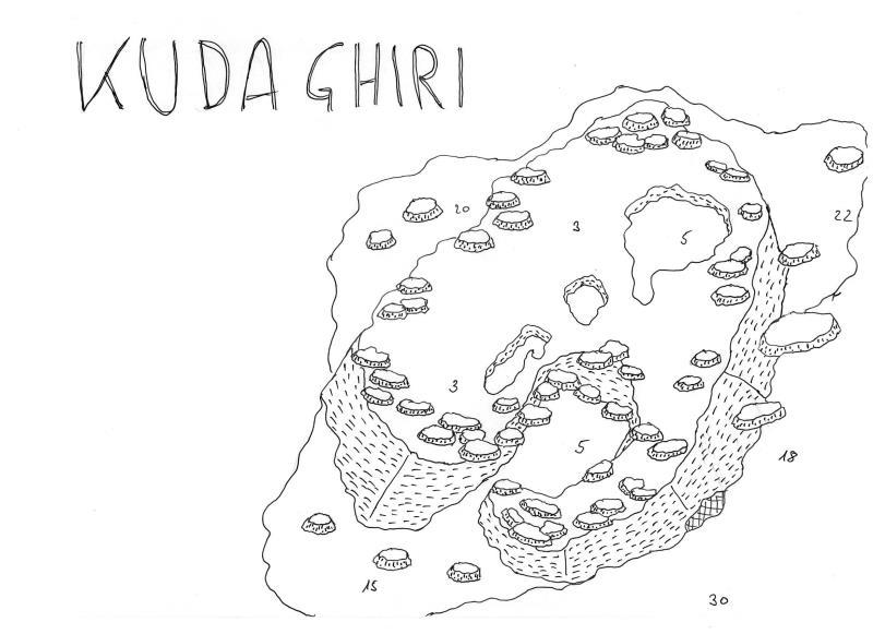 Site Map of Kuda Giri (Ghiri) Wreck, South Male Atoll Dive Site, Maldives