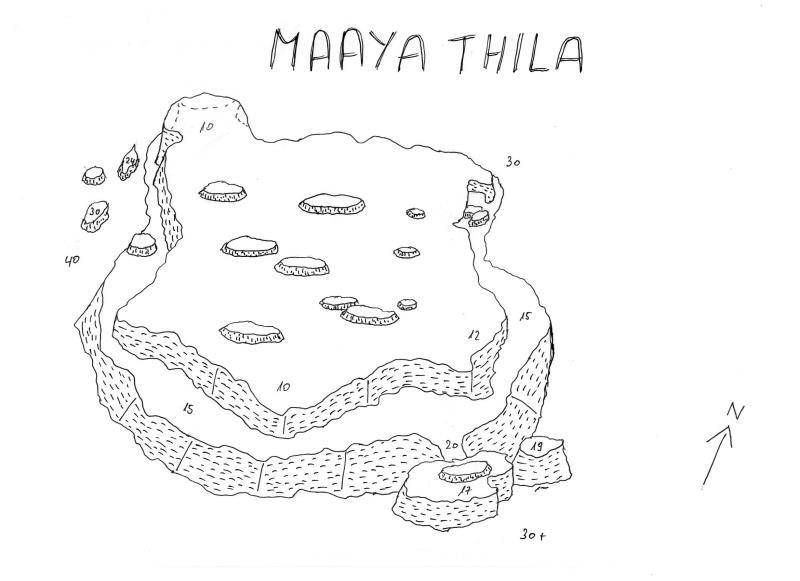 Site Map of Maaya Thila Dive Site, Maldives