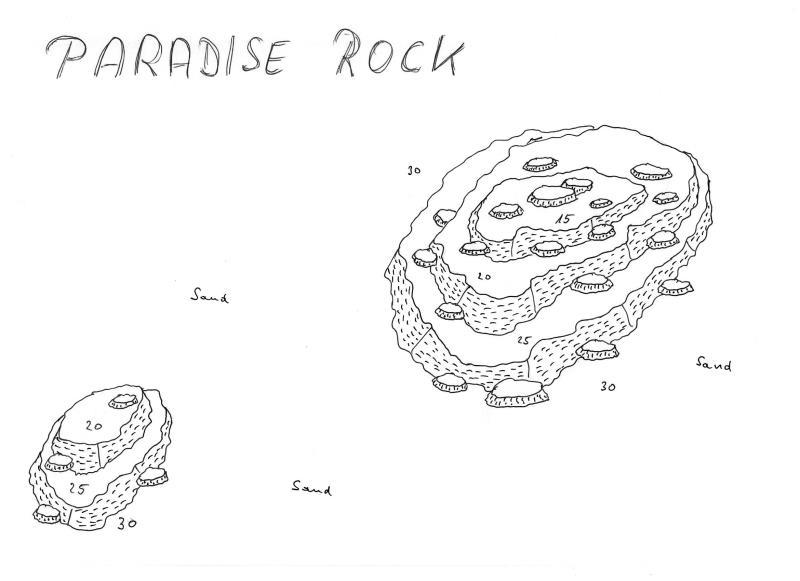 Site Map of Paradise Rock Dive Site, Maldives