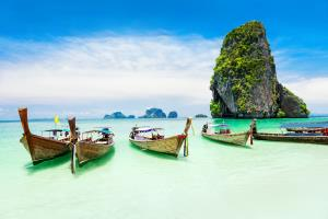 Traditional Thailand LongTail boats.