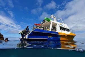 El Tigre at anchor