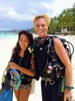Open Water student em with Paul the Instructor