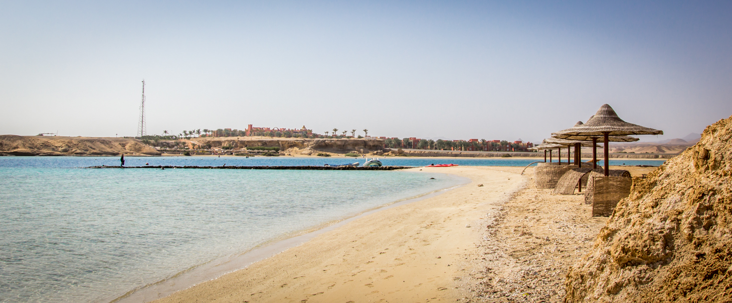 There's nothing more beautiful than relaxing on the beach after a great mornings dive with views across the RedSea towards the desert horizon..