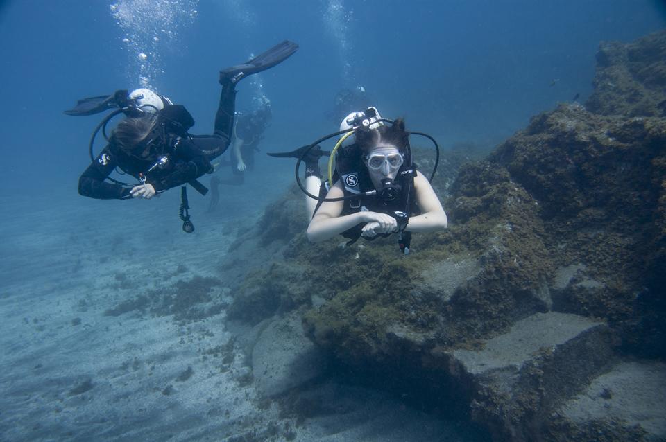 Discover scuba diving, try dive Las Galletas