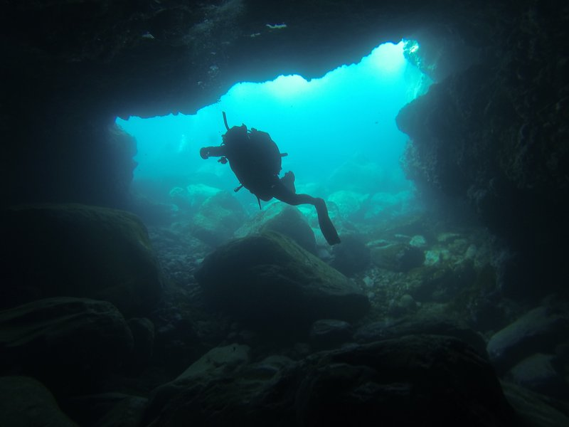 70 meters long tunel in the volcanic rocks