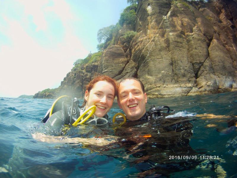 Couple Swami after dive