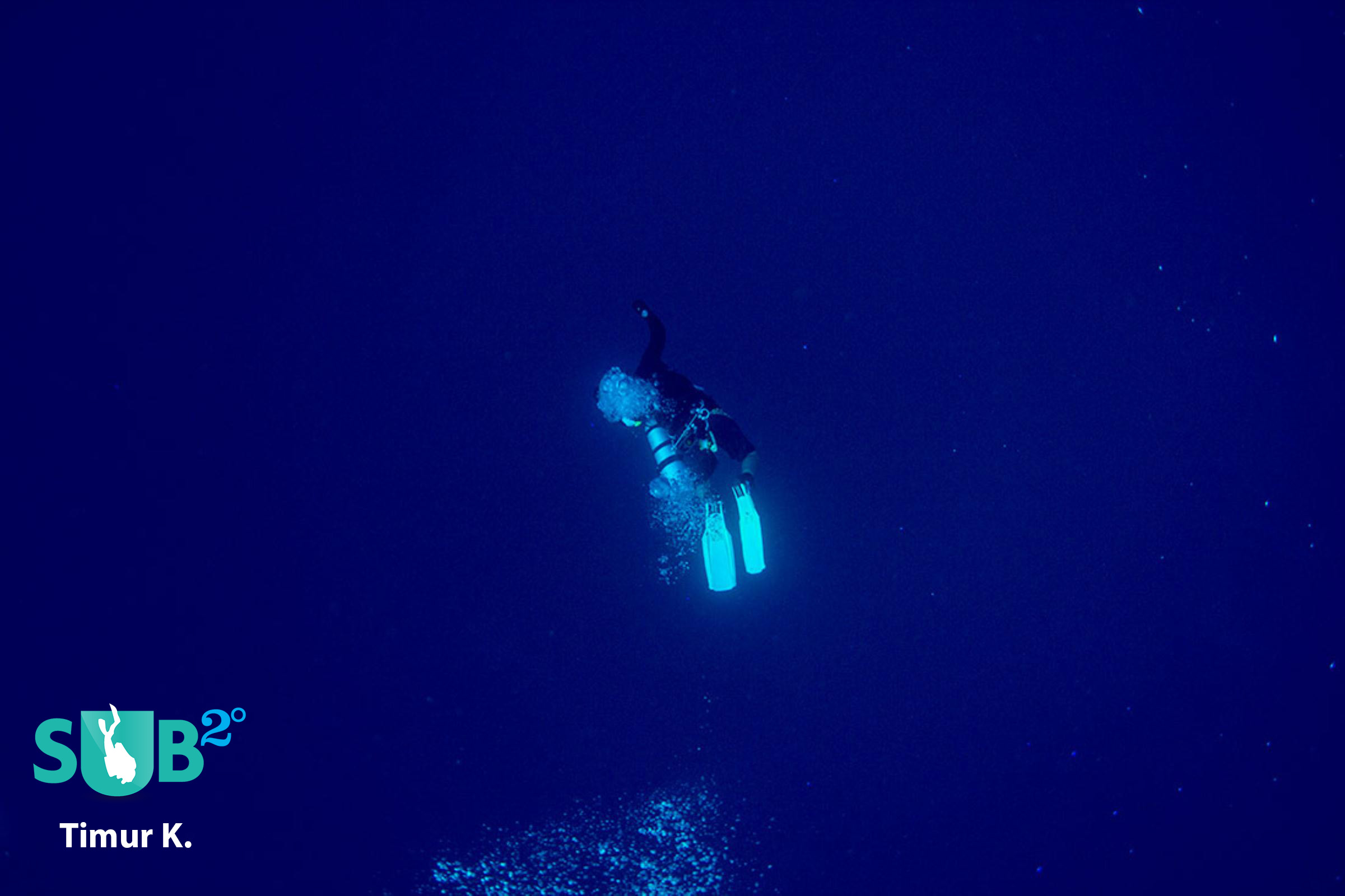 Diver in the deep blue sea...
