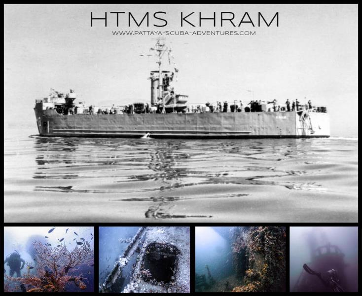 HTMS KHRAM WRECK ( Pattaya Far Islands)