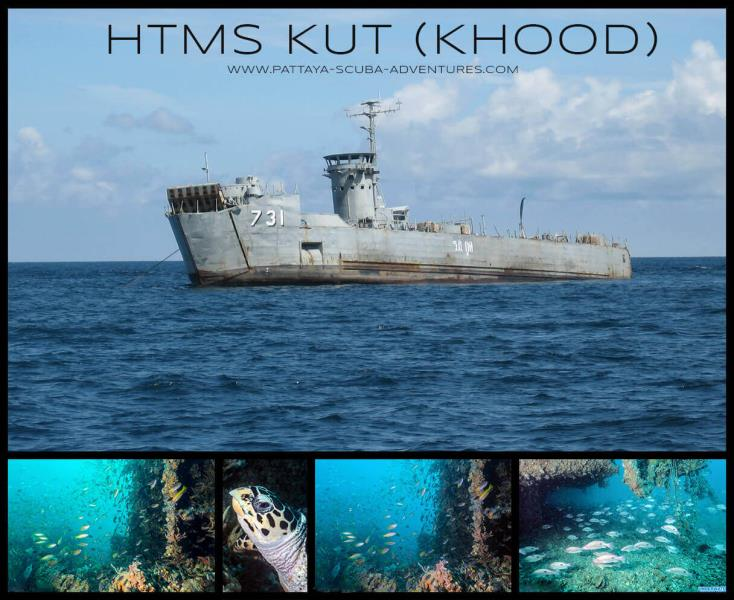 HTMS KUT WRECK ( Pattaya Near Islands)